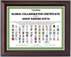 Certificate Framed