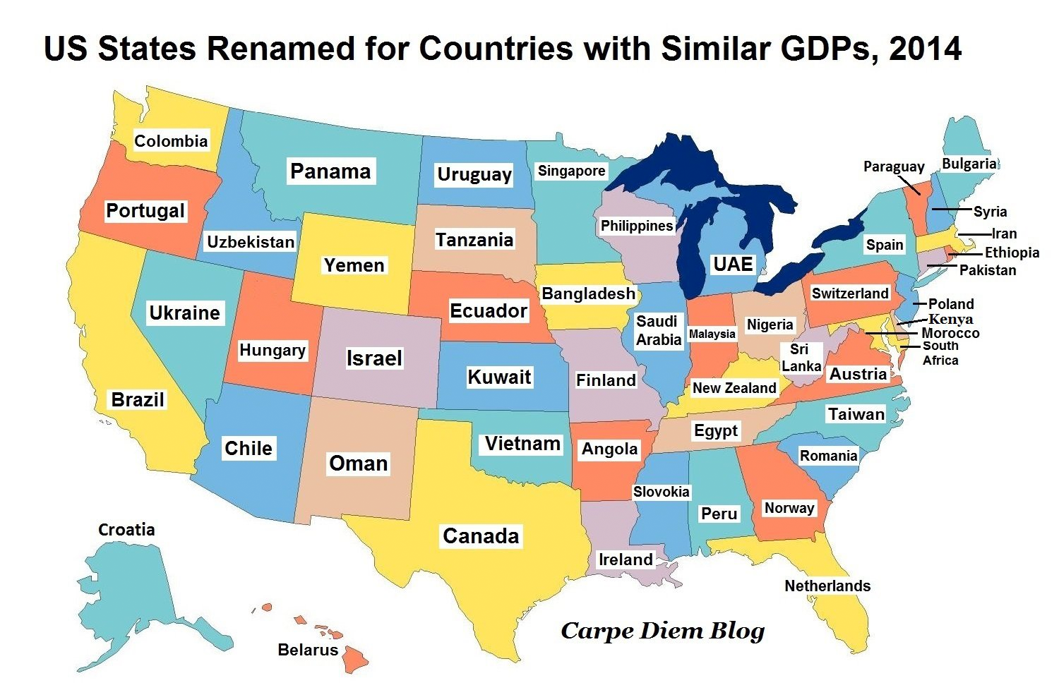 How Big The The US Economy XCultureorg - Us economy map
